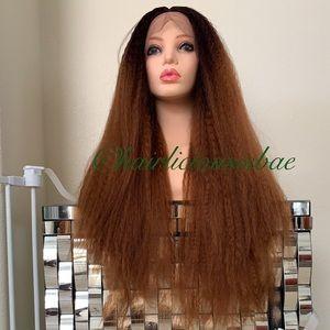 Ombré wig color 4/30 lace front 26 inch long thick